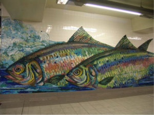 Fish Mosaic Subway