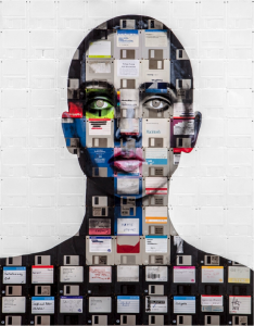 Floppy Disk Mosaic Art