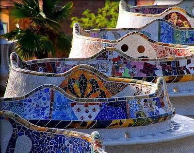 Mosaic Benches Barcelona