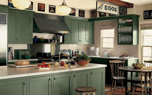 Decor ideas for your kitchens mozaico blog for Modern green kitchen designs