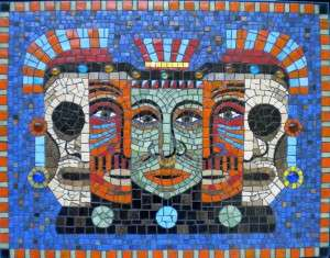 Mosaic Abstract Portrait