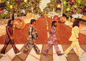 The Beatle's Food Mosaic