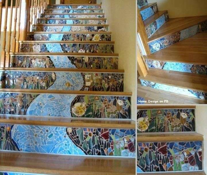 16 Elegant Traditional Staircase Designs That Will Amaze You: Most Beautiful Interior Mosaic Staircases
