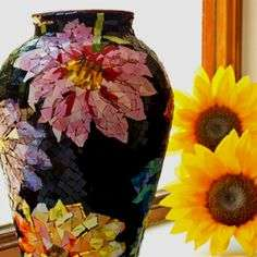 1-Colorful Floral Flower Vase