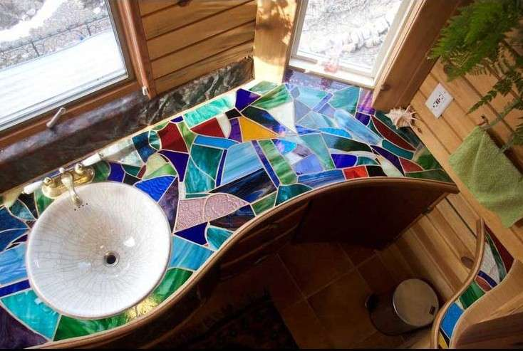 Top 10 mosaic ideas to freshen up your bathroom mozaico blog for Bathroom mosaic design