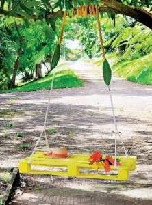 garden-furniture-ideas-creative-diy-yellow-swing-pallet-bed