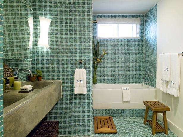 green mosaic tile backsplash Top 10 Mosaic Ideas To Freshen up your Bathroom  Mozaico Blog