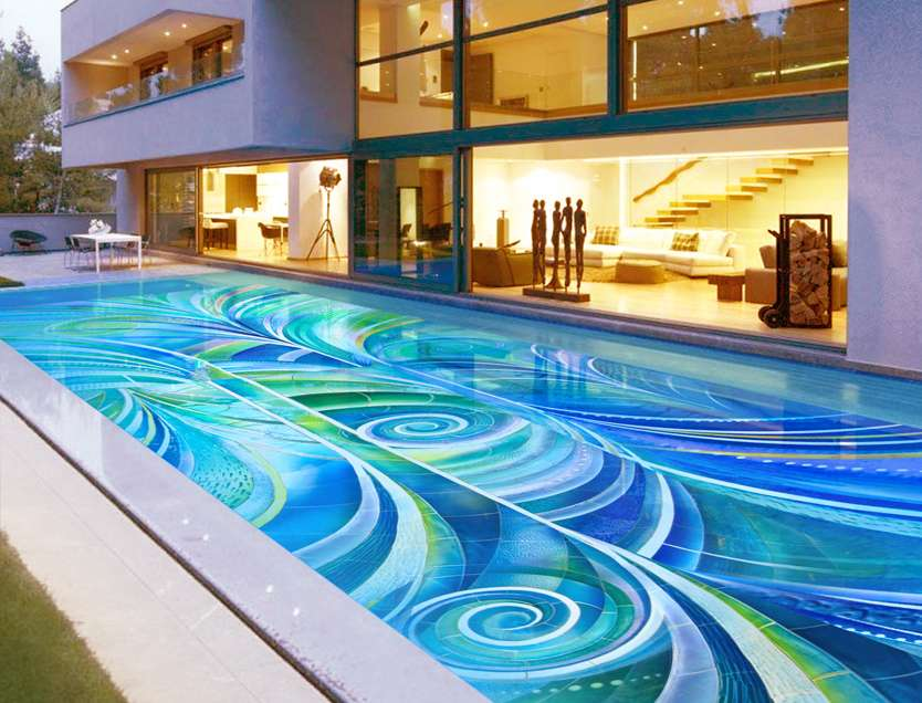 10 nautical mosaic designs for the summer of 2015 for Pool plans online