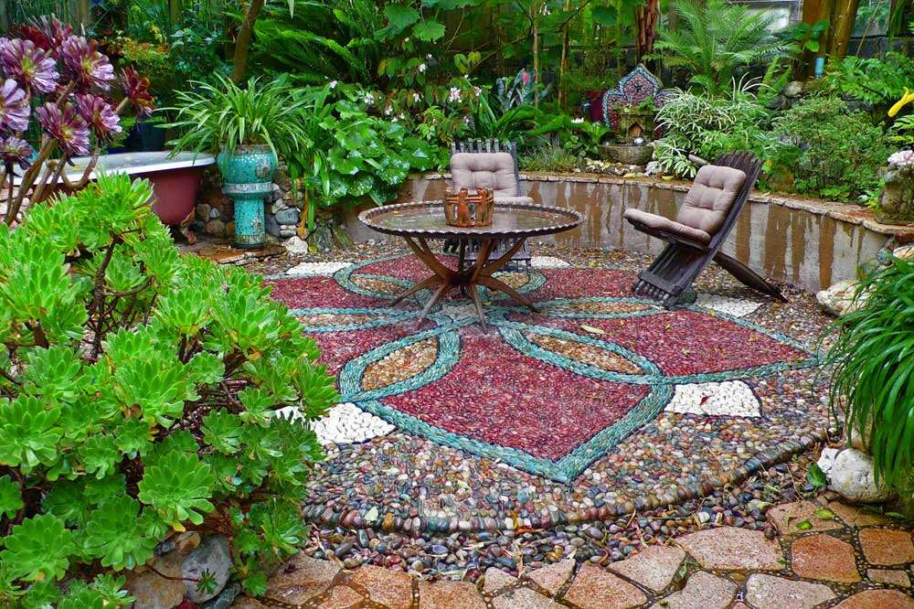 Must see outdoor landscape mosaic ideas mozaico blog - Basics mosaic tiles patios ...