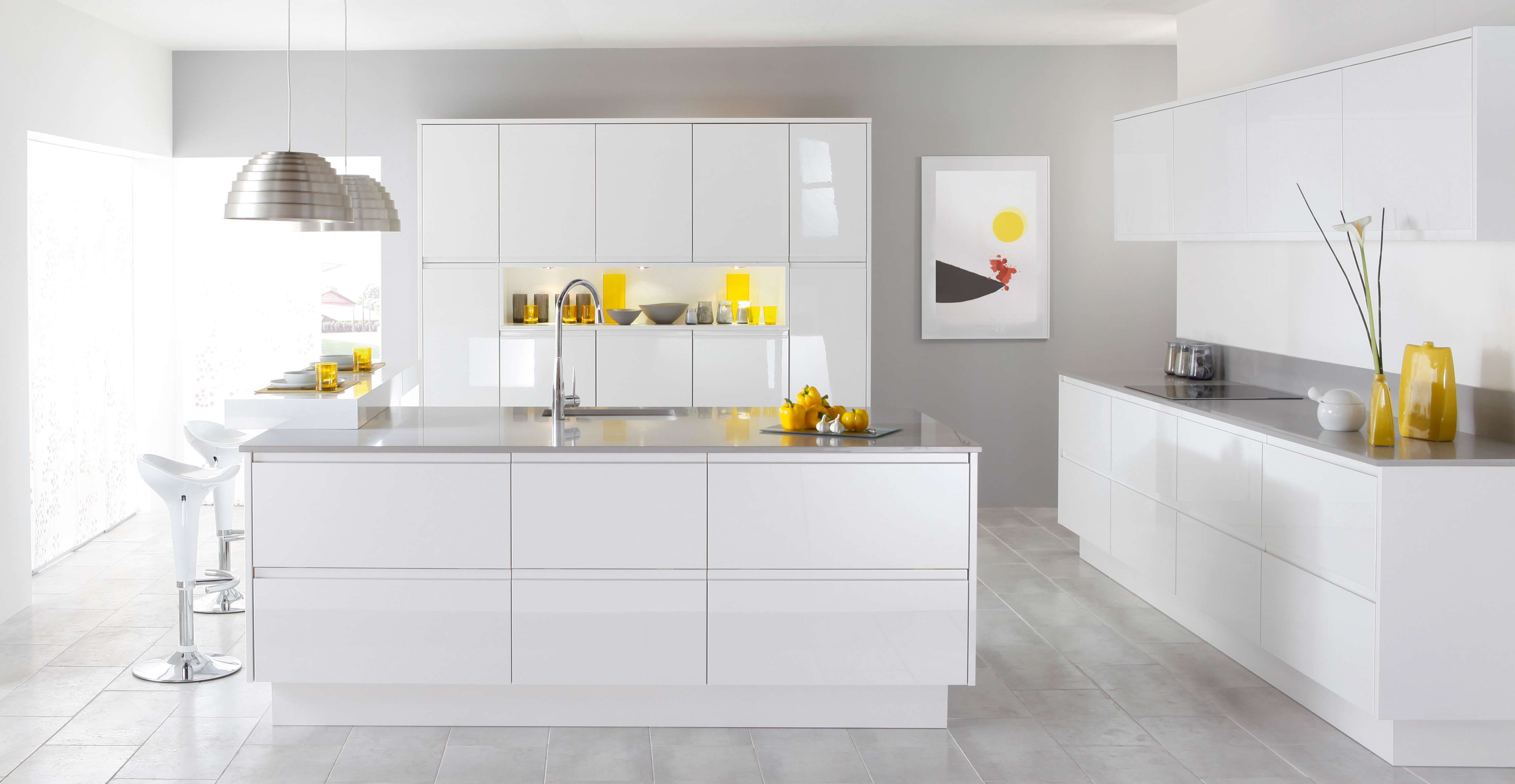 How to beautify a white kitchen mozaico blog for Pics of white kitchens