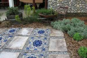 Stepping stones and mosaic art