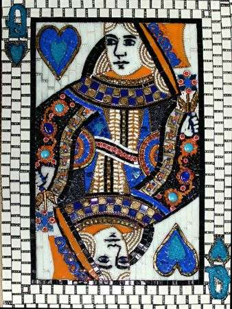 creative mosaic Queen Of Hearts