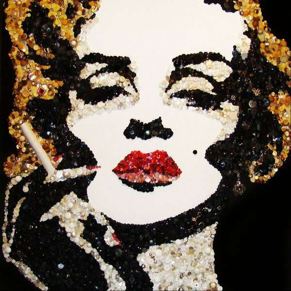 Marilyn Monroe figurative mosaic art