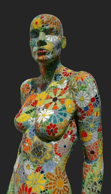 Sculptural Mosaic Figure