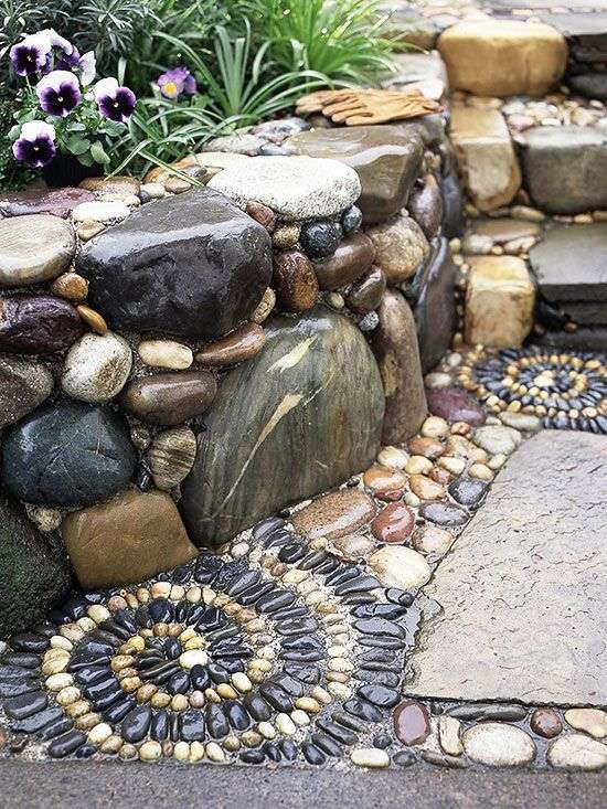 Spiral Mosaic Pattern In Patio