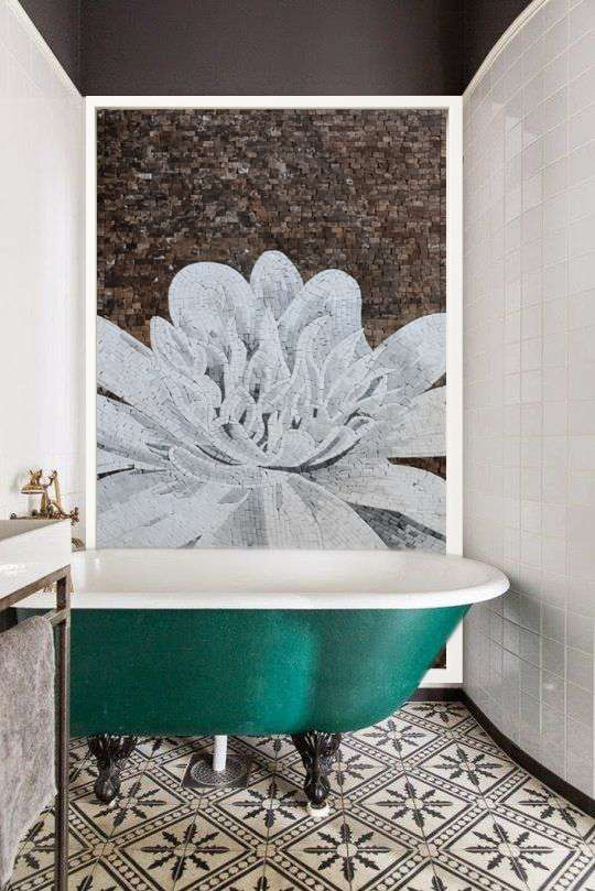 Lotus Mosaic Bathroom