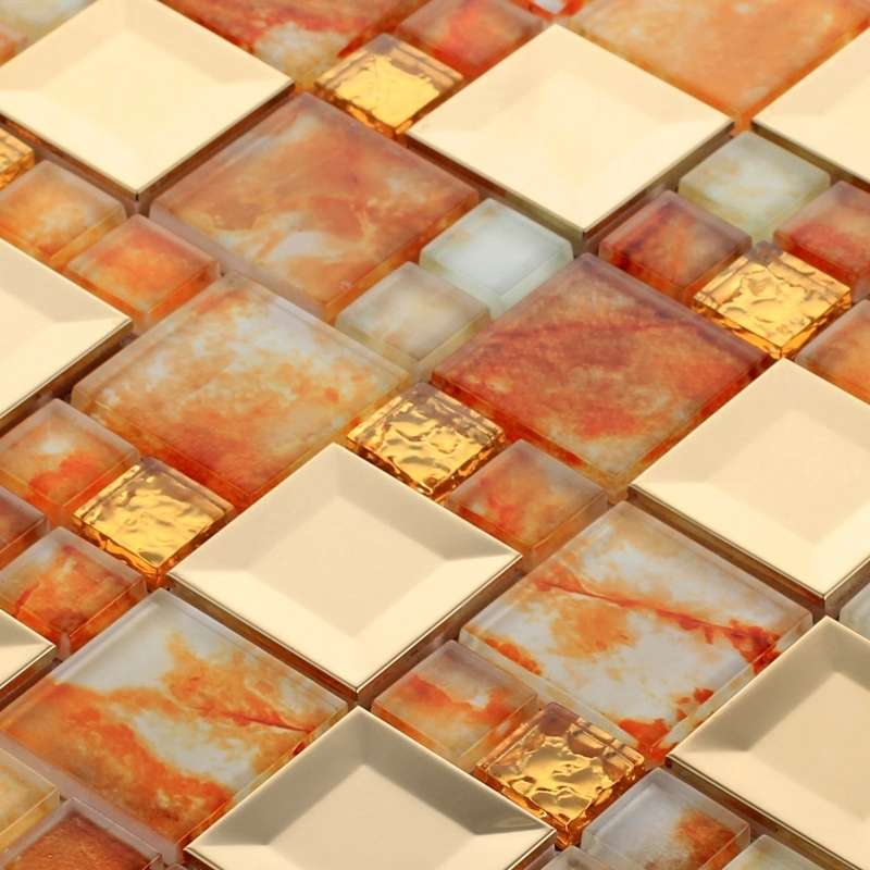 Glass marble tile