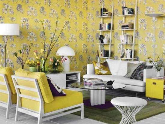 D cor ideas to layer your home this fall 2016 2017 mozaico blog - Gray and yellow wallpaper ...