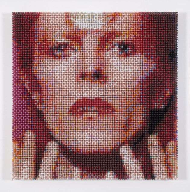 David Bowie mosaic art