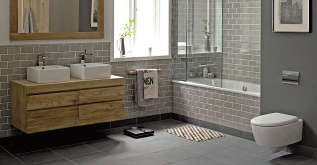 Bath in colors 5 most soothing colors for your bathroom for Fired earth bathroom ideas