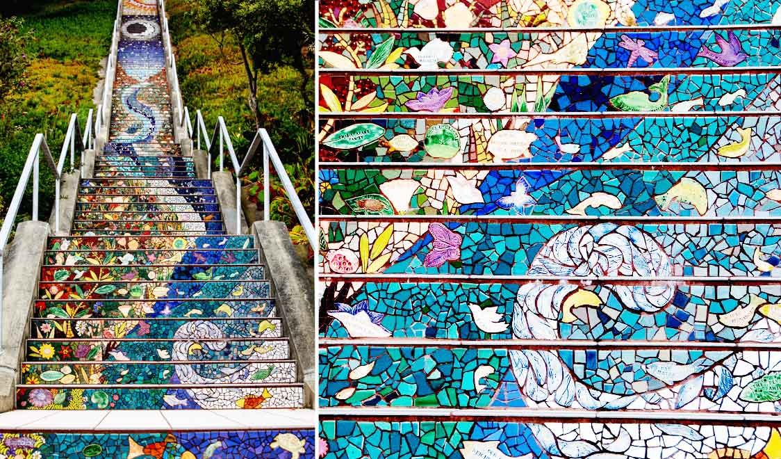 mosaic staircase waves