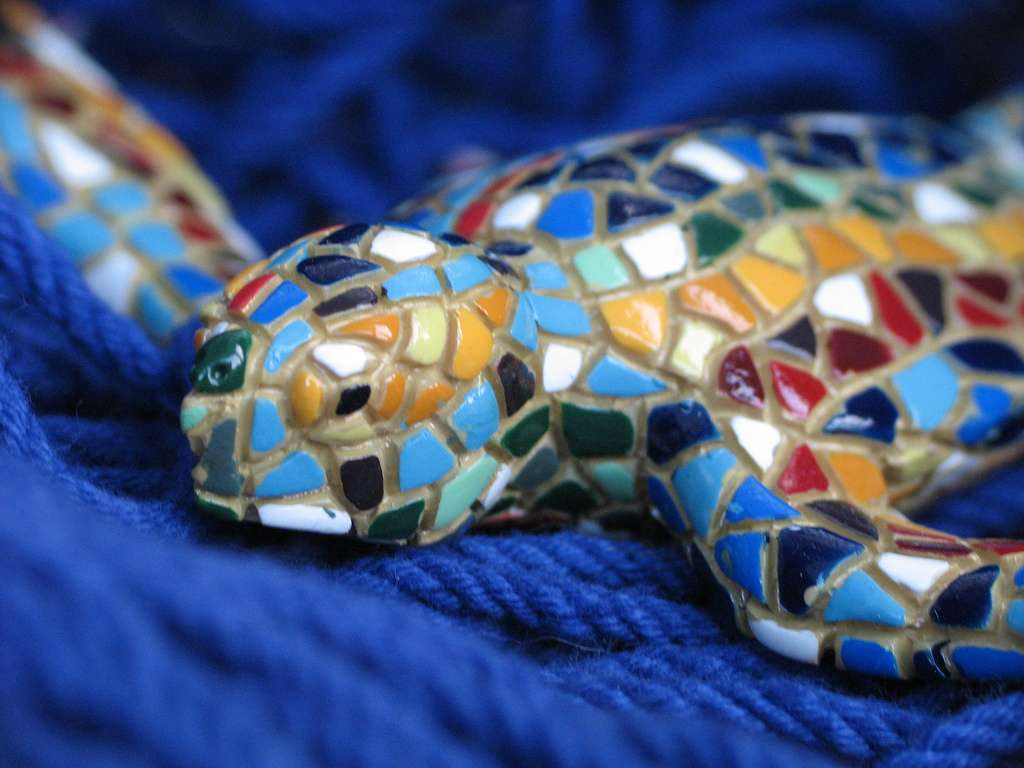 colorful turtle mosaic