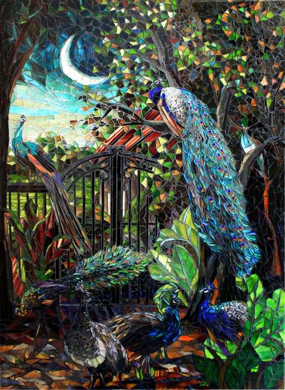 peacock-mosaic-art