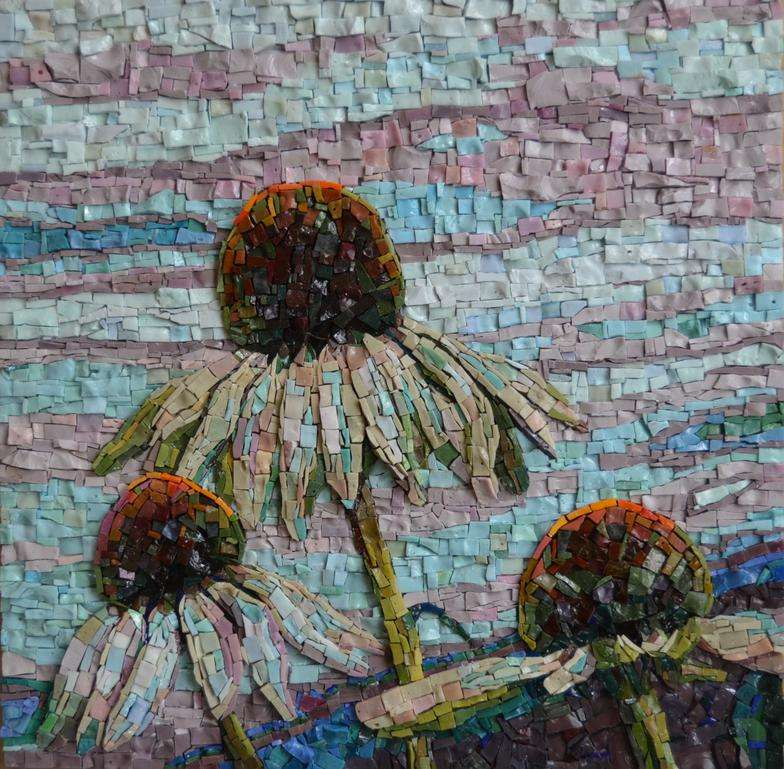 coneflower-mosaic-art
