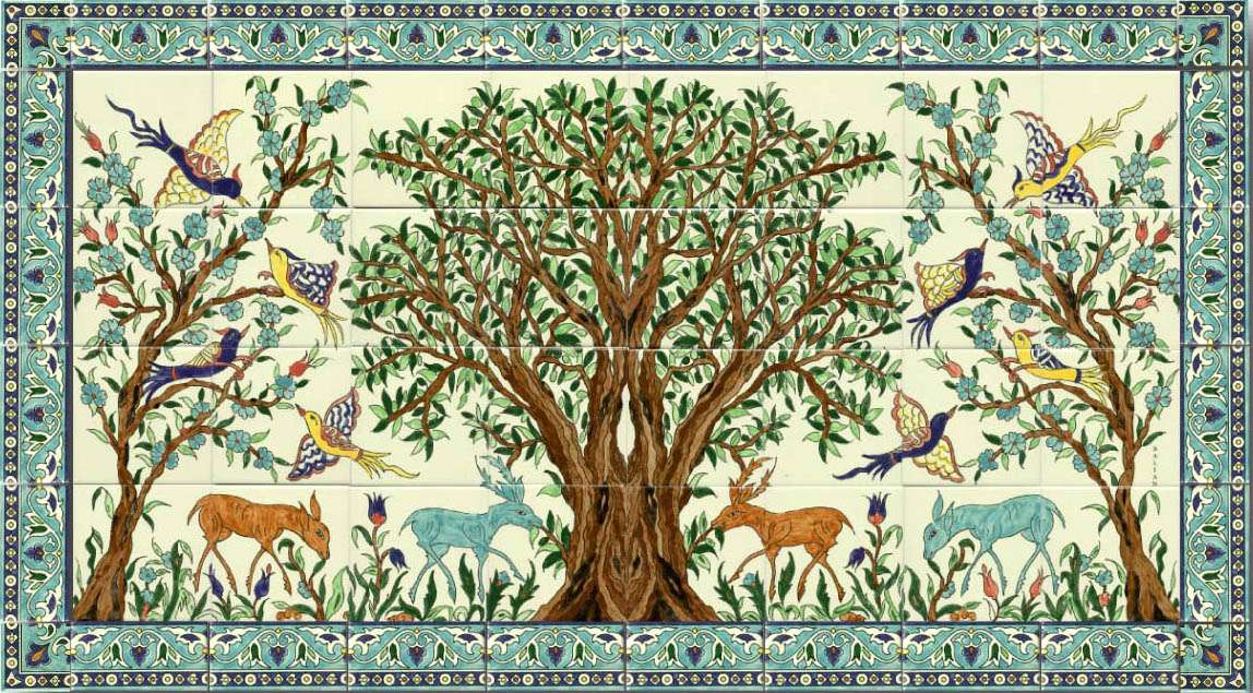 Art and the ancient secrets of the tree of life mozaico blog for Mosaic painting meaning