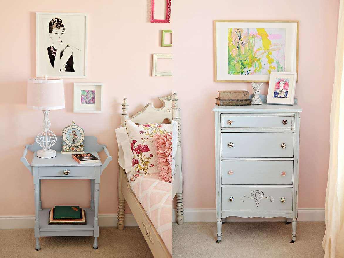 pastel pink room decor