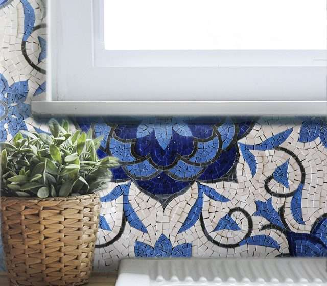 mosaic-backsplash-floral
