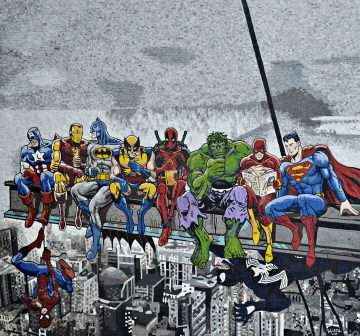 mosaic-art-super-heroes