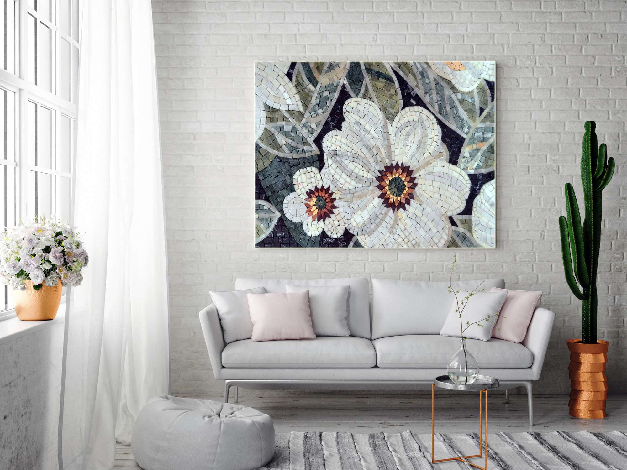 Mosaic-Home-decor-Floral