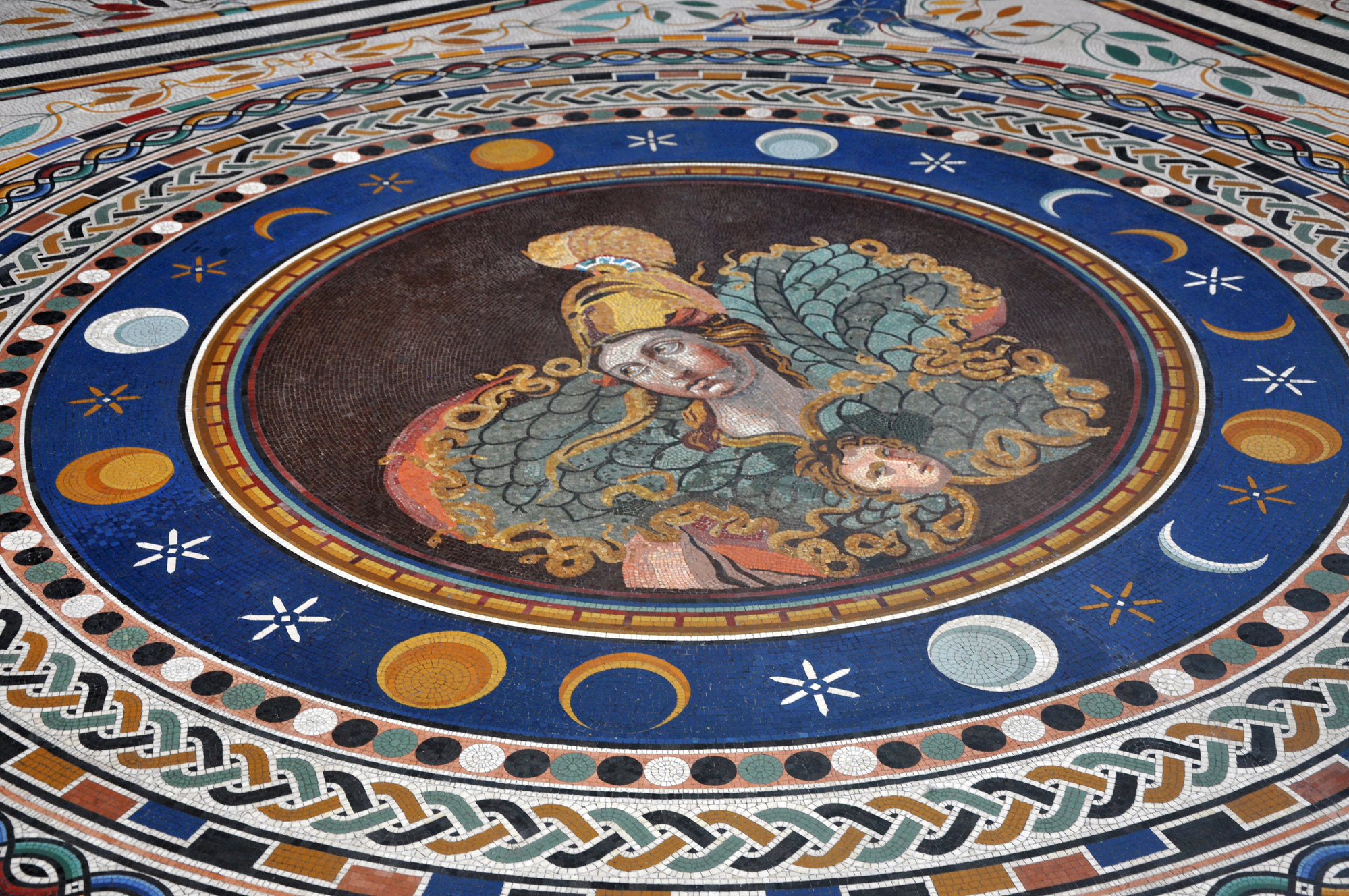 Mosaic tiled floor in the Vatican museums