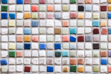 Multicolor mosaic, wall, floor tile