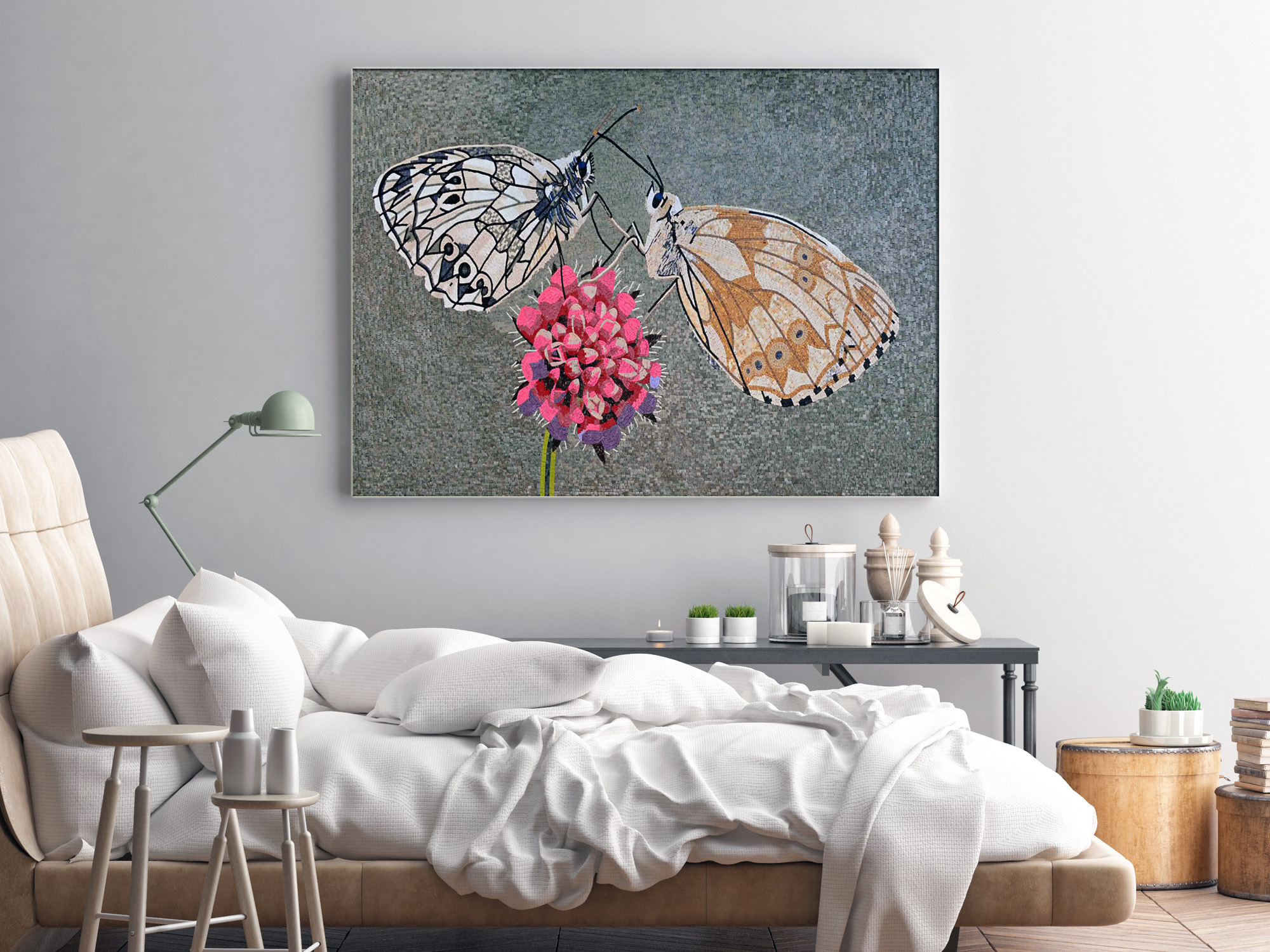 mosaic-art-in-bedroom-butterfly