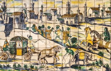Lisbon, Portugal, ancient ceramic tile, museum Azulejo