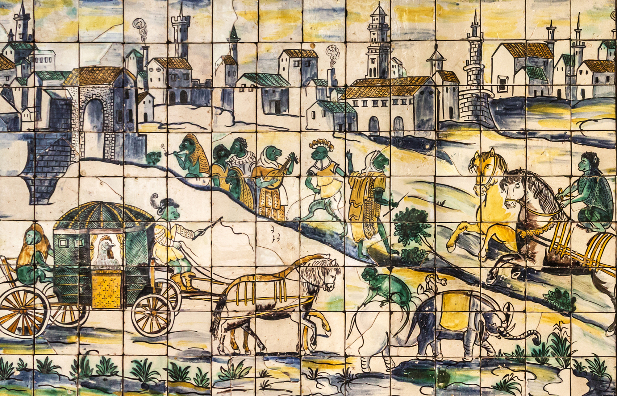 Tile Art Tales From Lisbon Portugals City Of Light Mozaico Blog