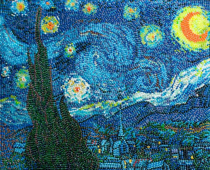 starry-night-bean-mosaic