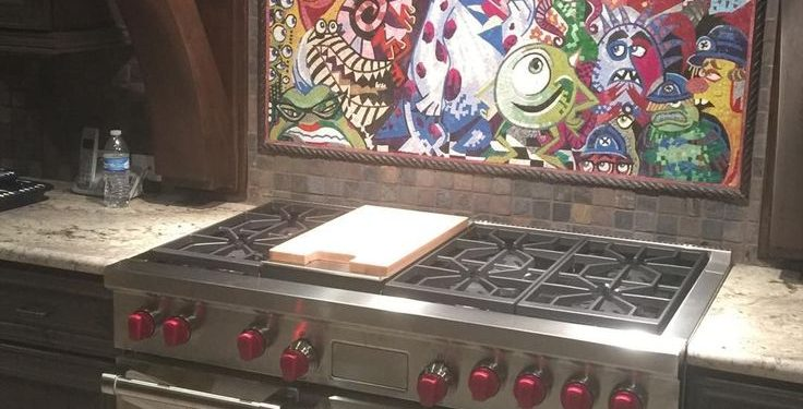 Kitchen backsplash-mosaic-tile-mural