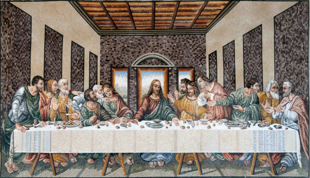 the last supper mosaic
