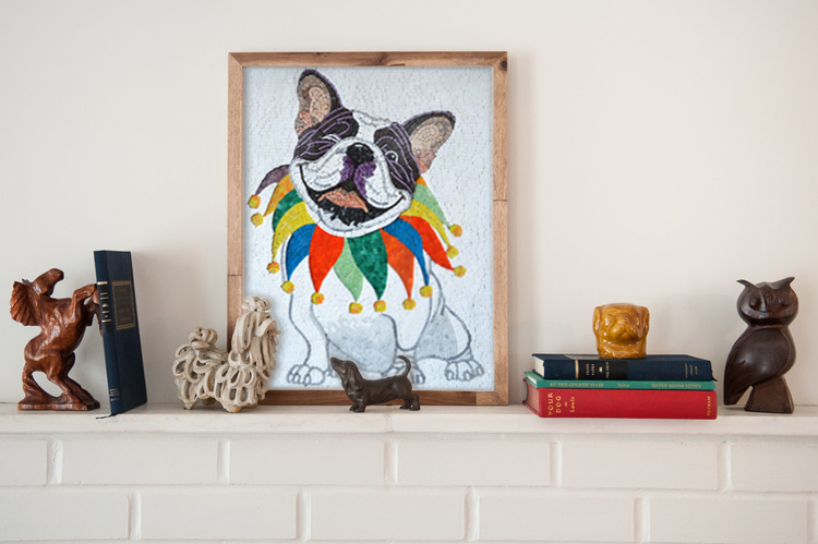 Clown dog Mosaic art Mozaico