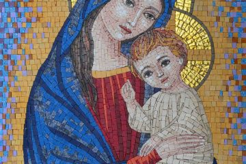 Virgin Mary and Christ Portrait