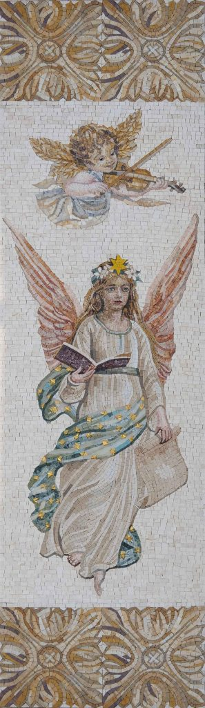 Religious Angel Mosaic Art by Mozaico.