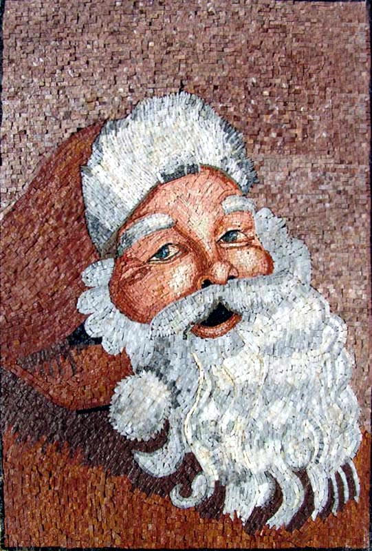 Santa Claus Mosaic Art by Mozaico