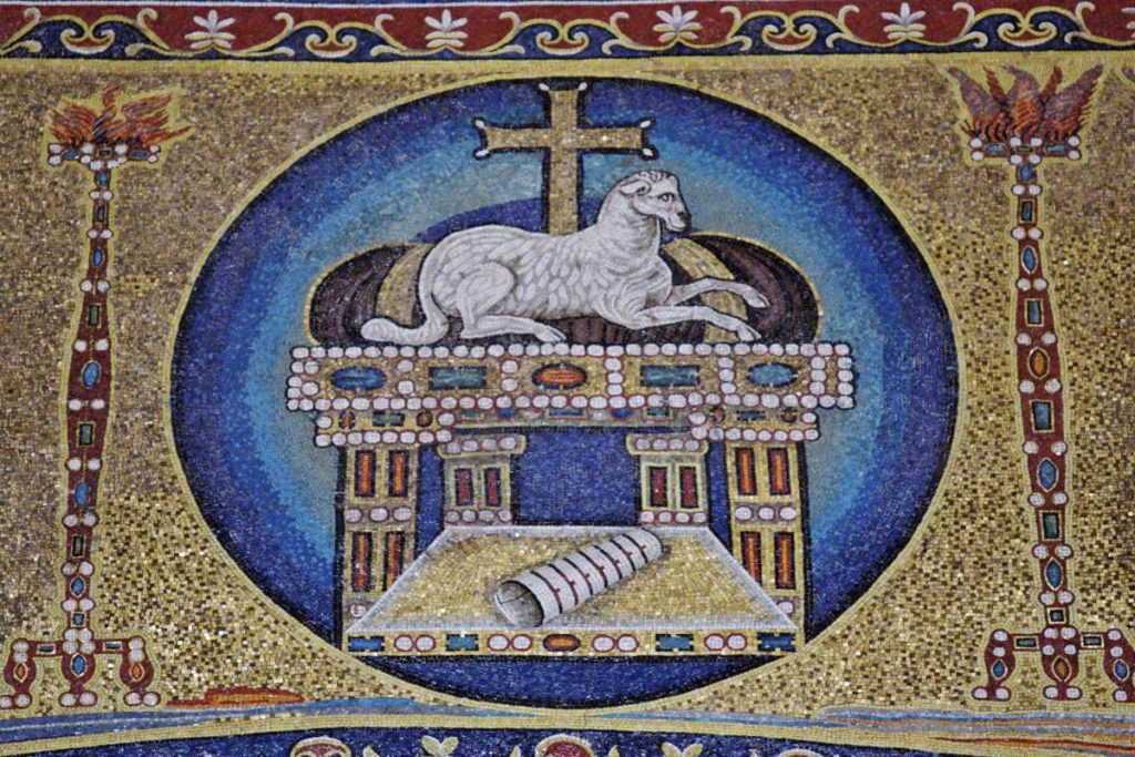 Apse of Santi Cosma e Damiano depicts the Lamb of God