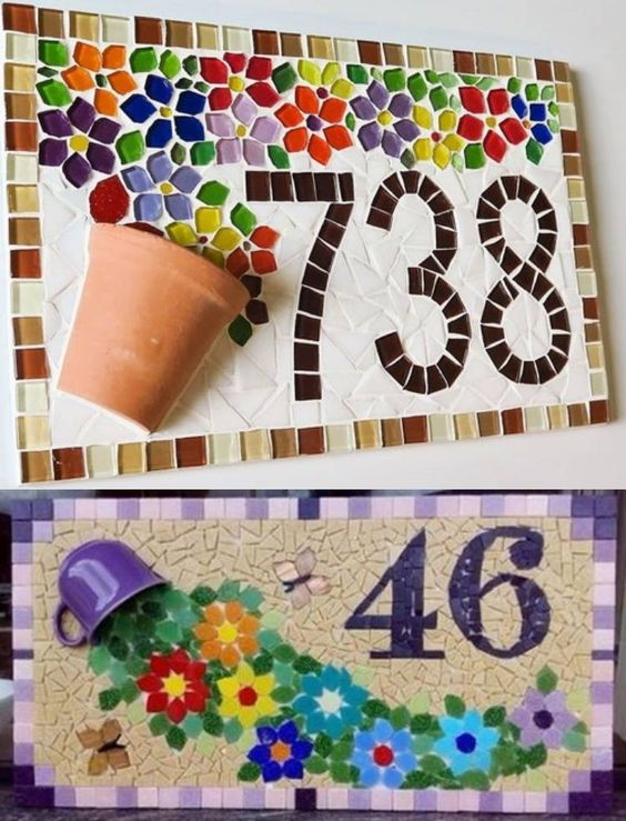 DIY mosaic art