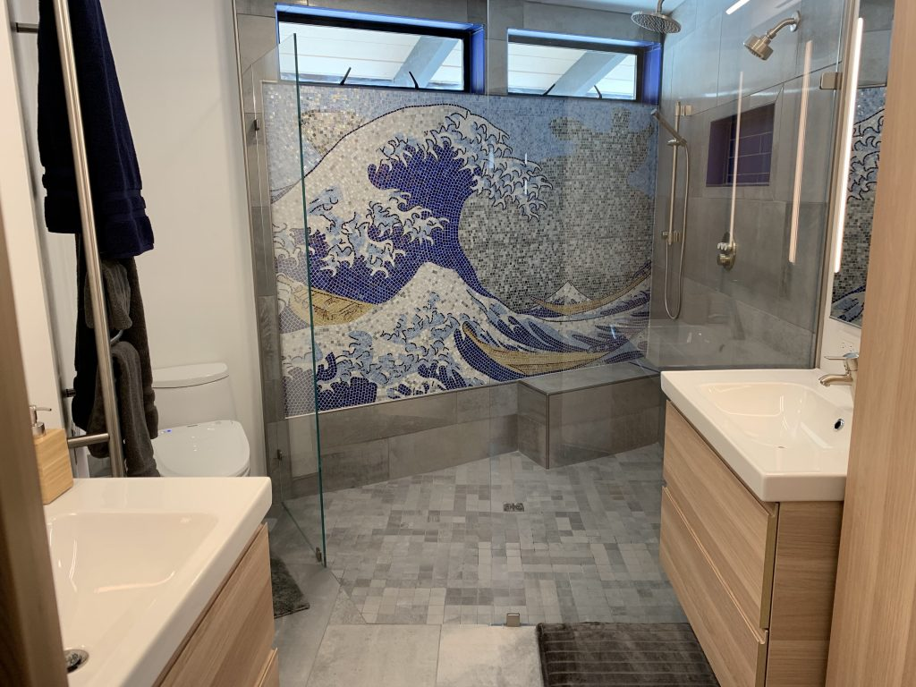 Bathroom Mosaic Design, Wave Mosaic