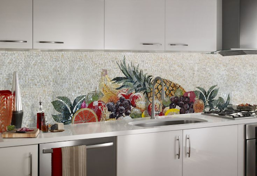 Mosaic Kitchen Backsplash, Fruit Mosaic