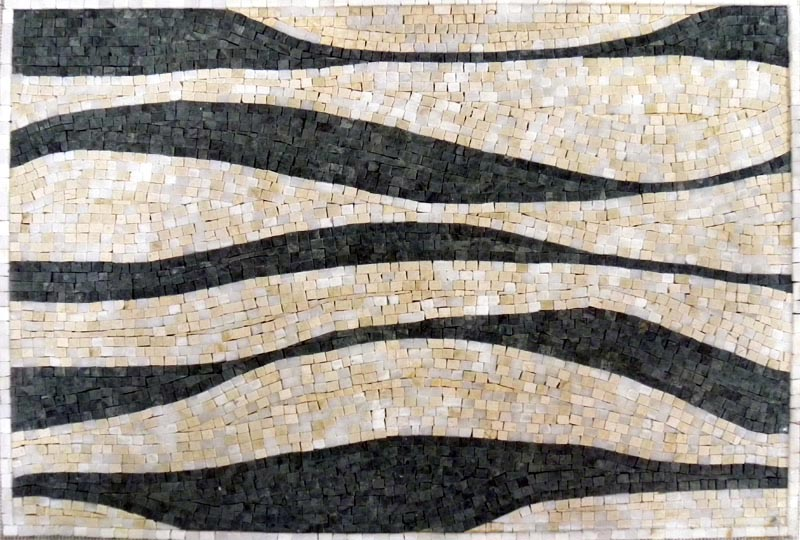 Zebra Stripes Mosaic Tile Pattern by Mozaico